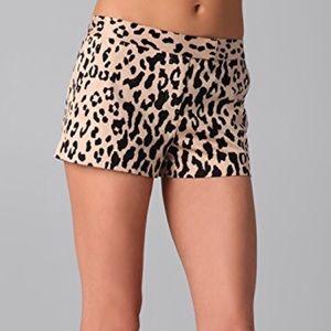Tibi Cheetah Leopard shorts. Size 4